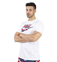 Nike Sportswear Camo - T-shirt - uomo, White/Blue/Red