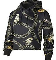 Nike Sportswear Women's Cropped Printed - Kapuzenpullover - Damen, Black