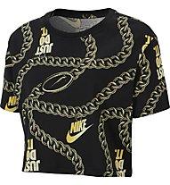 Nike Sportswear Glam Dunk Crop Tee - T-Shirt - Damen, Black