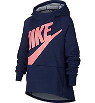 Nike Sportswear Hoodie - felpa con cappuccio - bambina, Blue
