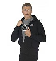 Nike Sportswear Hoodie FZ Club - Kapuzenjacke - Herren, Black/White