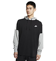 Nike Sportswear Pullover Hoodie - Kapuzenpullover - Herren, Black/Grey