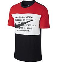 Nike Sportswear Swoosh - T-shirt - Herren, Red/White/Black
