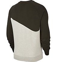 Nike Sportswear Swoosh French Terry Crew - maglia maniche lunghe -  uomo, Beige/Brown