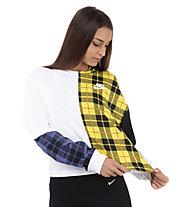 Nike Sportswear Women's Long-Sleeve Top - Langarmshirt - Damen, White/Black/Yellow