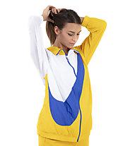 Nike Sportswear Woven Swoosh - Trainingsjacke - Damen, White/Yellow/Blue