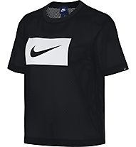 Nike Mesh Top - T-shirt fitness - donna, Black