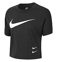 Nike Swoosh - T-Shirt fitness - Damen, Black