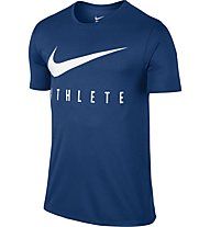 Nike Swoosh Athlete T-Shirt Training Herren, Blue