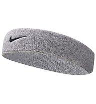Nike Swoosh Headband - fascia tergisudore, Silver/Black