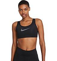 Nike Swoosh Icon Clash Strappy - Sport-BH - Damen, Black