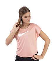 Nike Swoosh Short-Sleeve Running Top - T-shirt running - donna, Rose
