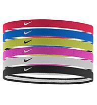 Nike Swoosh Sport - elastici per la testa, Red/Blue/Yellow/Pink/White/Black