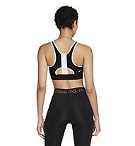 Nike Swoosh UB W's Medium-Support - reggiseno a sostegno medio - donna, Black/White