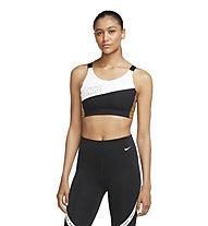 Nike Swoosh W's Medium-Support - reggiseno sportivo a supporto medio - donna, Gold/White/Black