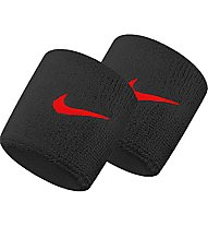 Nike Swoosh Wristbands - polsini tergisudore, Black/Red