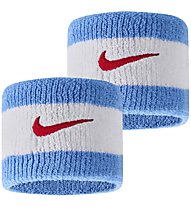 Nike Swoosh Wristbands - Armbänder, White/Light Blue