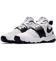 Nike Team Hustle D 8 (GS) - Basket- und Trainingsschuh, White/Black