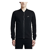 Nike Tech Fleece Varsity Jacke, Black