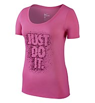 Nike Tee Scoop Jdi T-Shirt Fitness Damen, Pink