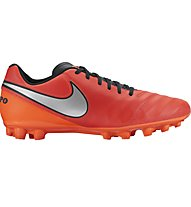Nike Timepo Genio II Leather AG-R scarpa da calcio, Red