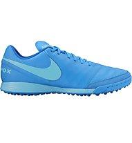 Nike Tiempo Genio II Leather TF - Fußballschuhe Hartplatz, Blue Glow