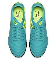 Nike Tiempo Mystic V TF Scarpa Calcio, Clear Jade/Black/Volt
