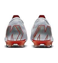 Nike Vapor 12 Elite FG - Fußballschuhe kompakte Rasenplätze, Grey/Orange
