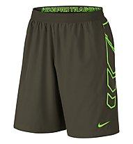 Nike Vapor Woven 8'' Short Pantaloni corti fitness, Cargo Khaki/Green Strike