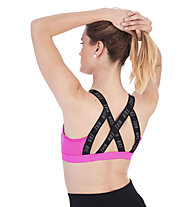 Nike Logo Medium Support Bra - Sport BH - Damen, Pink/Black