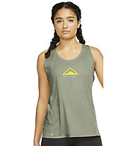 Nike City Sleek Trail Running Tank - Lauftop Trailrunning - Damen, Green
