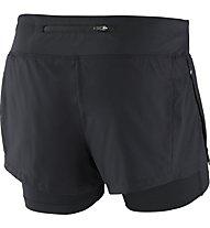 Nike Eclipse 2-in-1 - pantaloni corti running - donna, Black