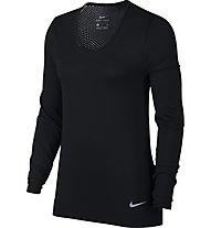 Nike Infinite - maglia a maniche lunghe running - donna, Black