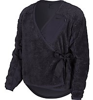 Nike Sherpa Wrap - giacca in pile - donna, Black