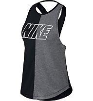 Nike Miler - top running - donna, Black/Grey