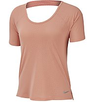 Nike Breathe Miler Running Top - T-shirt running - donna, Rose