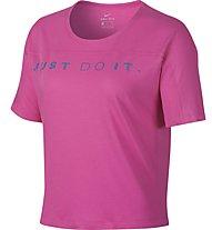 Nike Dri-FIT Miler Women's Running Top - Laufshirt - Damen, Pink