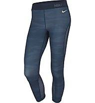 Nike Pro Hypercool Capri - Fitnesshose Training - Damen, Blue