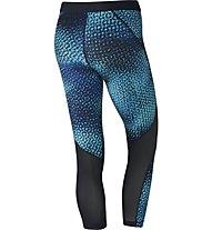 Nike Pro Hypercool - Fitnesshose Capri - Damen, Light Blue/Black