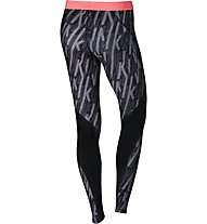 Nike Pro HyperCool Graphic Tight - Trainingshose - Damen, Black/Pink