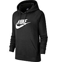Nike Sportswear Essential Fleece Hoodie - felpa con cappuccio - donna, Black