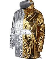 Nike Sportswear Metallic - Schlupfjacke - Damen, Yellow/Grey
