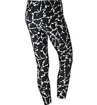 Nike Sportswear Legging Print Fitness Training Damen, Black/White