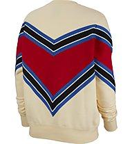 Nike Sportswear NSW Fleece Crew - felpa - donna, Light Yellow/Red/Blue