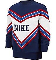 Nike Sportswear NSW Women's Fleece Crew - Sweatshirt - Damen, Blue/White/Red