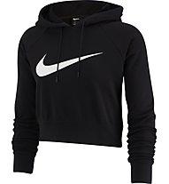 Nike Sportswear Cropped Hoodie - felpa con cappuccio - donna, Black