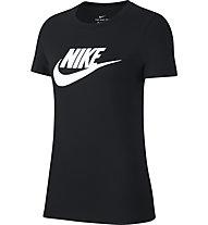 Nike Sportswear Essential Icon Futura - T-Shirt - Damen, Black