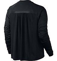 Nike Women Sportswear Bonded Top - langärmliges Damen-Fitnessshirt, Black
