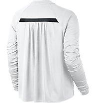 Nike Women Sportswear Bonded Top Maglia a maniche lunghe fitness donna, White