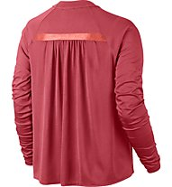 Nike Women Sportswear Bonded Top - langärmliges Damen-Fitnessshirt, Red